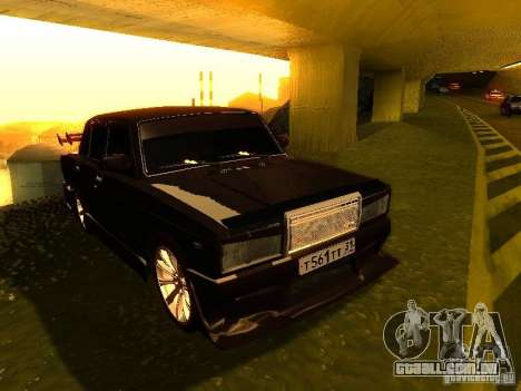 VAZ 2107 X-estilo para GTA San Andreas vista traseira