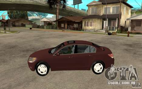Honda Accord 2009 para GTA San Andreas esquerda vista