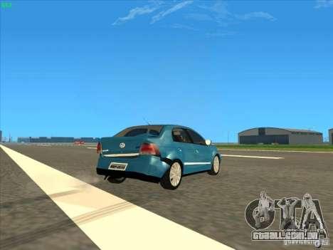 Volkswagen Voyage Comfortline 1.6 2009 para vista lateral GTA San Andreas