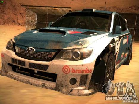 Subaru Impreza Gravel Rally para as rodas de GTA San Andreas