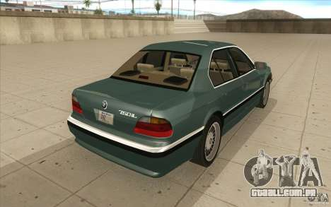 BMW 750iL 1995 para vista lateral GTA San Andreas