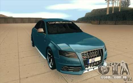Audi S4 2009 para GTA San Andreas vista traseira
