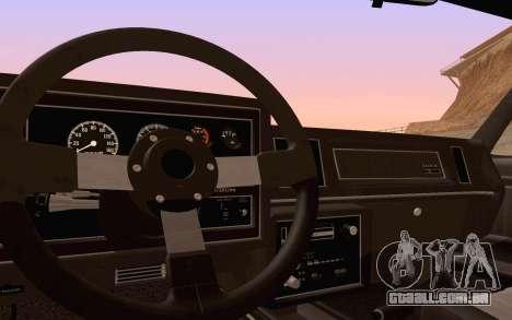 Buick GNX 1987 para as rodas de GTA San Andreas