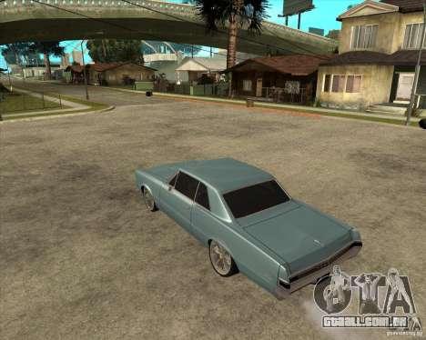 PONTIAC GTO 65 para GTA San Andreas esquerda vista