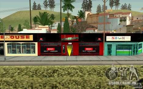 Cropp Town SHOP para GTA San Andreas segunda tela