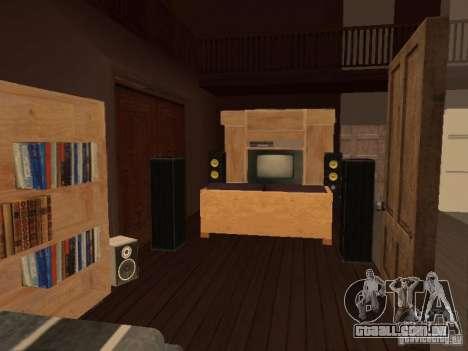 Villa em San Fierro para GTA San Andreas oitavo tela