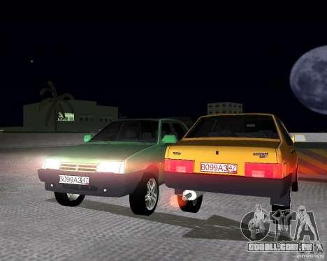Vaz 21099 luz ajustado para GTA Vice City vista direita
