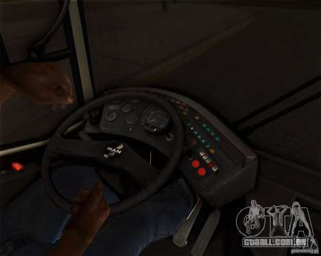 MAN SL202 para GTA San Andreas vista interior