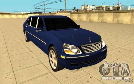 Mercedes-Benz S600 Pullman W220 para GTA San Andreas vista traseira