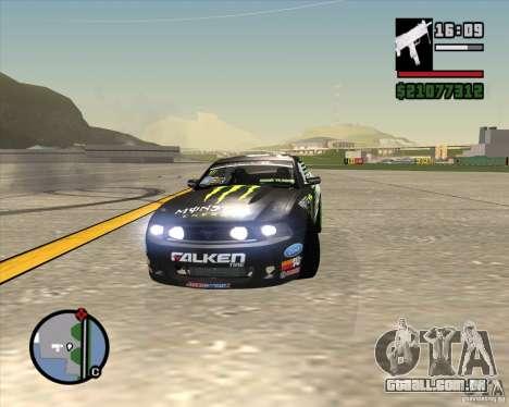 Ford Mustang GT 2010 Vaughn Gittin Jr para GTA San Andreas vista interior