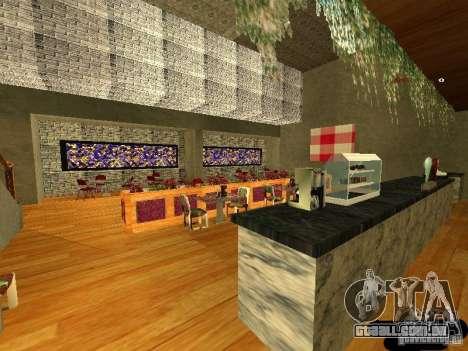 Bistrô de novo Marco interior para GTA San Andreas terceira tela