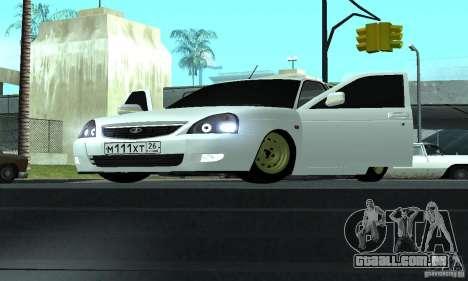Lada Priora Luks para GTA San Andreas traseira esquerda vista