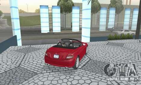 Mercedes-Benz SLK 350 para GTA San Andreas esquerda vista