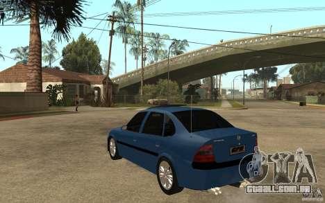 Opel Vectra CD 1997 para GTA San Andreas traseira esquerda vista