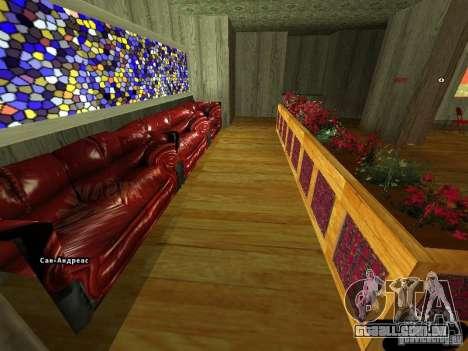 Bistrô de novo Marco interior para GTA San Andreas segunda tela