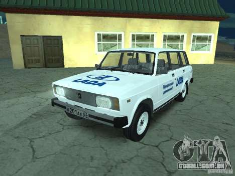 VAZ 2104 para GTA San Andreas vista inferior
