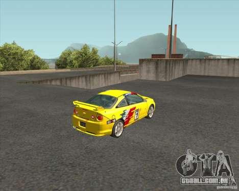 Chevrolet Cobalt SS para GTA San Andreas traseira esquerda vista