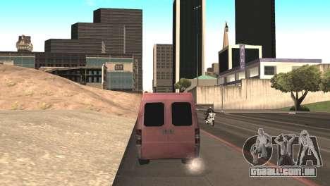 Peugeot Boxer para GTA San Andreas vista direita