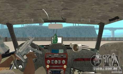 Tunning de fantasia arte VAZ 2106 para GTA San Andreas vista traseira