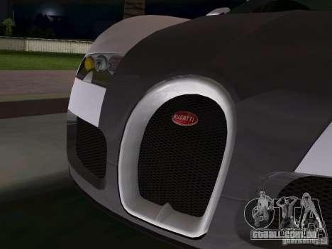 Bugatti Veyron EB 16.4 para GTA Vice City vista interior