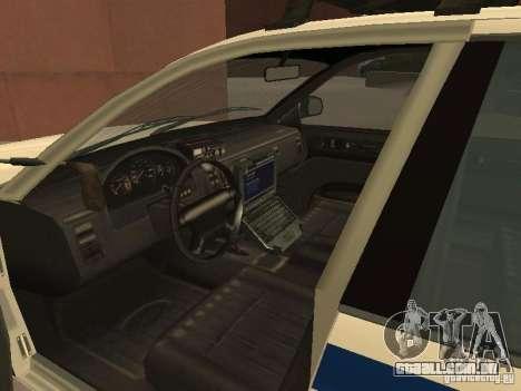 A polícia de GTA4 para GTA San Andreas vista interior
