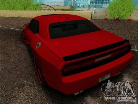Dodge Quinton Rampage Jackson Challenger SRT8 v1 para vista lateral GTA San Andreas