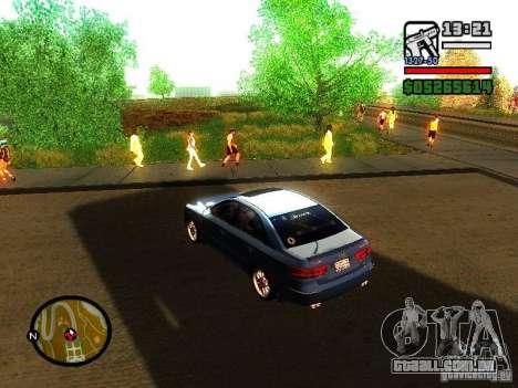 2008 Hyundai Sonata para GTA San Andreas traseira esquerda vista