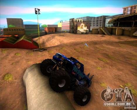 Monster Truck Blue Thunder para GTA San Andreas esquerda vista