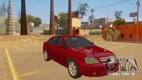 Buick Excelle para GTA San Andreas vista traseira