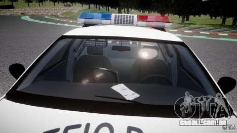 Ford Crown Victoria Karachi Traffic Police para GTA 4 vista inferior