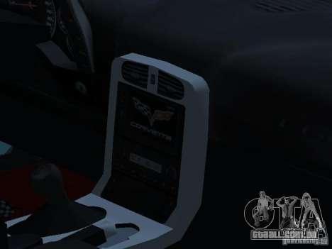 Chevrolet Corvette Stingray para GTA San Andreas vista interior