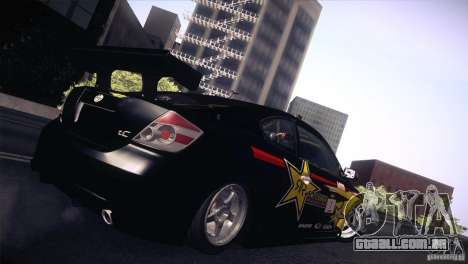 Scion TC Rockstar Team Drift para GTA San Andreas esquerda vista
