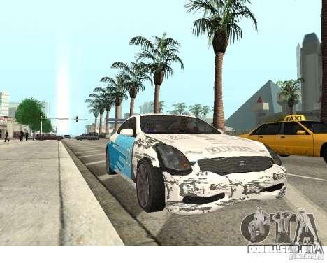Infiniti G35 Coupe para GTA San Andreas vista direita