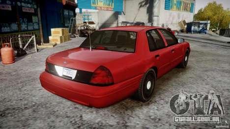 Ford Crown Victoria Detective v4.7 red lights para GTA 4 vista interior