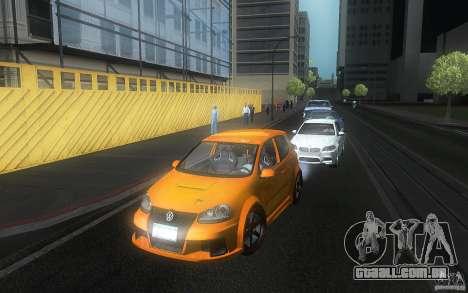 VolksWagen Golf GTI W12 TT Black Revel para vista lateral GTA San Andreas