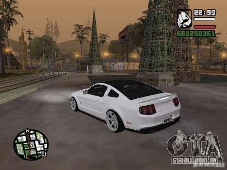 Ford Mustang GT B&W para GTA San Andreas esquerda vista