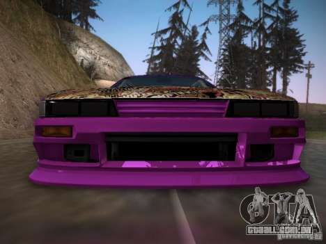 Nissan Silvia S13 Team Burst para GTA San Andreas vista superior