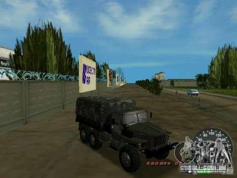 Ural 4320 militar para GTA Vice City vista lateral