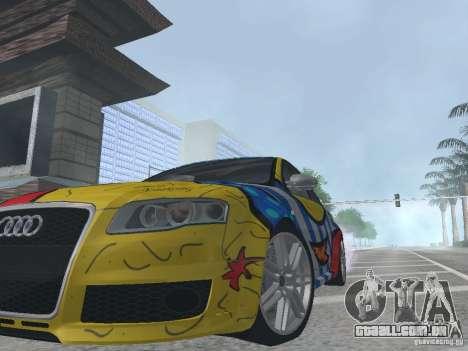 Audi RS 4 para GTA San Andreas vista traseira