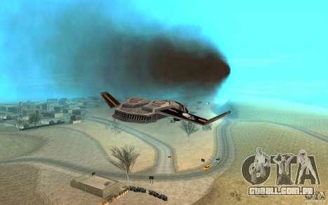 Falcão ar comando e Conquer 3 para GTA San Andreas vista traseira