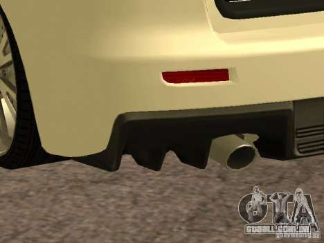 Mitsubishi Lancer Evolution X para GTA San Andreas vista superior