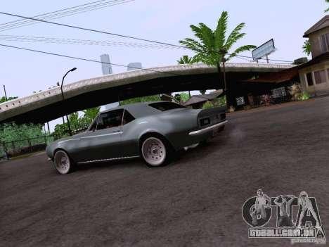 Chevrolet Camaro Z28 para GTA San Andreas vista traseira
