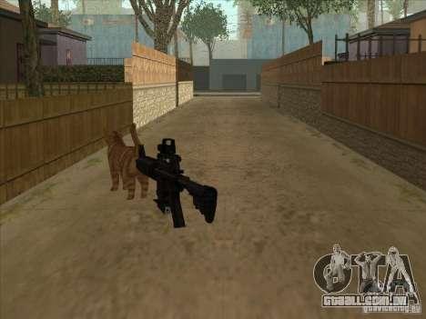 Gato silenciador na M4 em vez disso para GTA San Andreas segunda tela