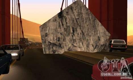 Ponte destruída em San Fierro para GTA San Andreas sexta tela