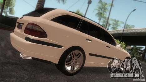 Mercedes-Benz E55 AMG para GTA San Andreas traseira esquerda vista