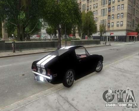 Ford Mustang Tokyo Drift para GTA 4 traseira esquerda vista