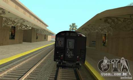 GTA IV Enterable Train para GTA San Andreas traseira esquerda vista