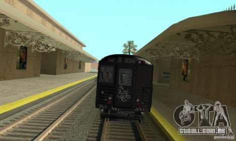 GTA IV Enterable Train para GTA San Andreas traseira esquerda vista