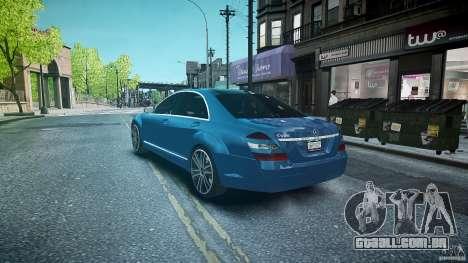 Mercedes Benz w221 s500 v1.0 sl 65 amg wheels para GTA 4 traseira esquerda vista