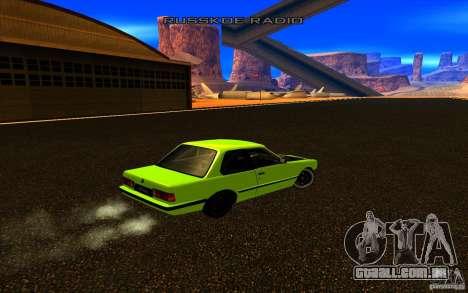 BMW E30 2.7T para GTA San Andreas vista traseira